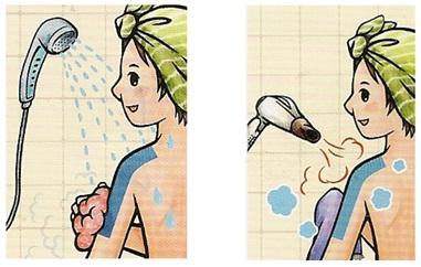 След мокрене на кинезио лентата подсушете
